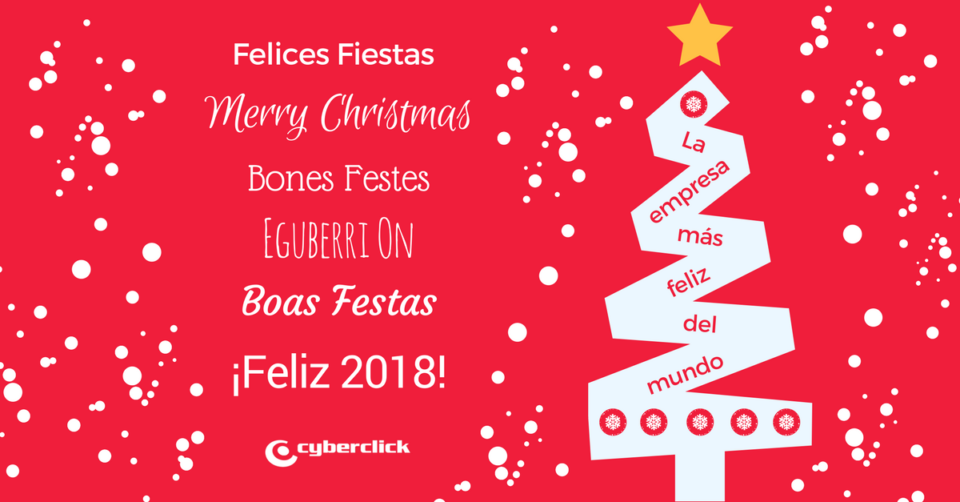 Happy Holidays with #ChristmasatCyberclick and Prospero 2018!